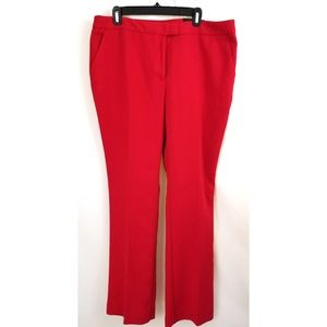 Worthington Size 16 Red Dress Pants Modern Fit